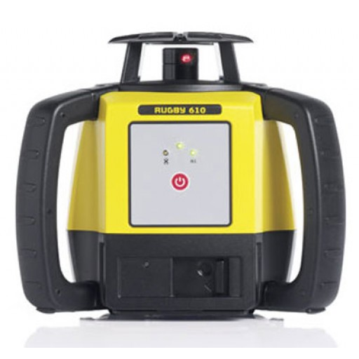 Leica Rugby 610 Rotating Laser - with Rod Eye- 120 and Alkaline Battery Pack