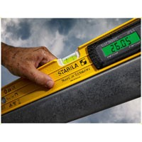 Stabila 48 in IP65 Magnetic Tech Level w/case - Digital Level