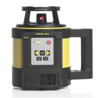 Leica Rugby 840 General Construction Laser with RE 180 Digital RF Receiver, RC400 Remote and Alkaline Battery