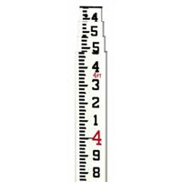 8ft Aluminum Rod ft/10th/100ths - 3 section